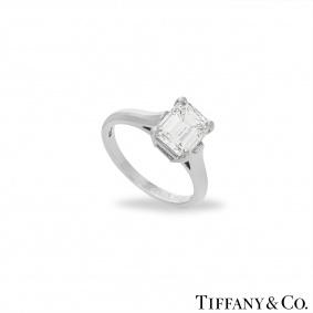 Tiffany & Co. Emerald Cut Diamond Ring 1.59ct E/VS1